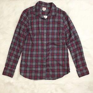 J. Crew The Perfect Shirt Plaid Flannel